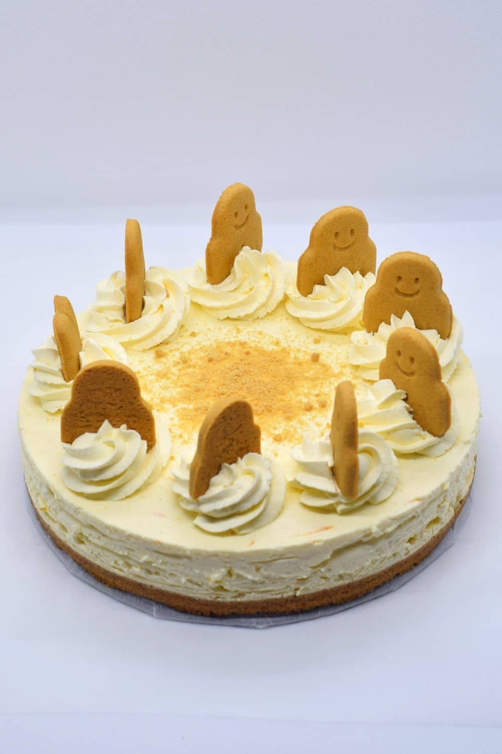 Gingerbread orange no bake cheesecake recipe with ginger nut or gingersnap crust