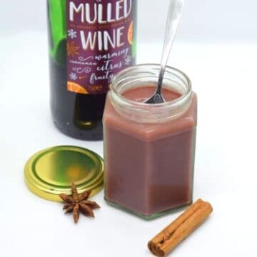 Mulled Wine Cranberry Christmas Curd Recipe - easy DIY homemade gift idea