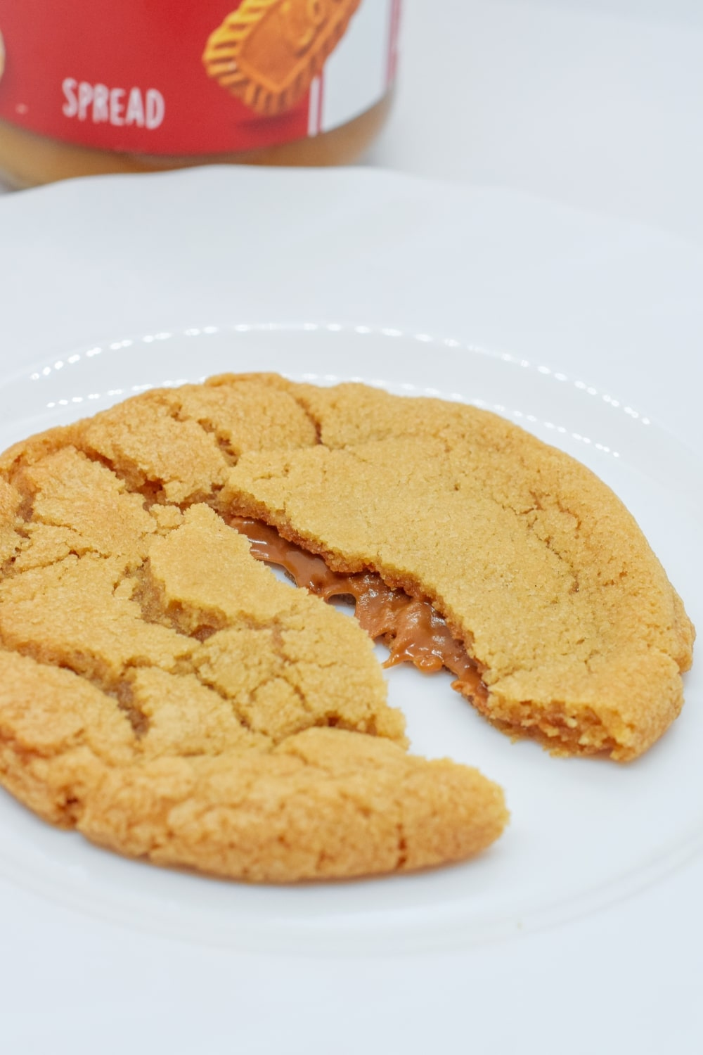 Easy Homemade Biscoff Stuffed Vegan Cookies without Weird Ingredients - plant-based recipe
