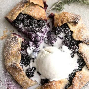 best warm rustic blackberry, blueberry and rosemary galette