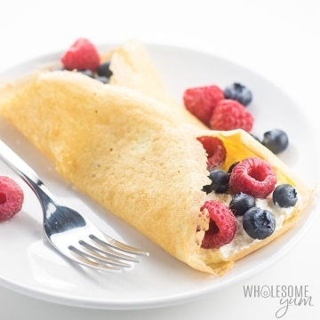 best warm Gluten-free keto crepes with almond flour