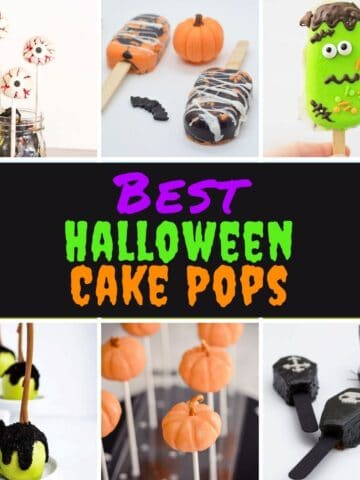 A collage of the best halloween cake pop ideas